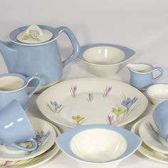 Crocus Breakfast Set Found this gorgeous vintage China on www.makersmark.co