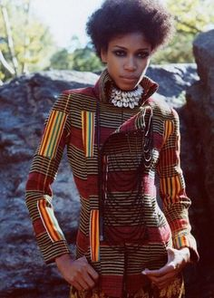 African print + structure  Why are there so few women of colour on these style boards?