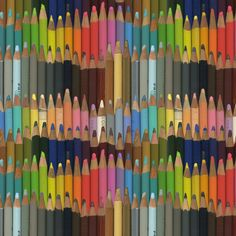 colored pencils by weavingmajor, click to purchase fabric