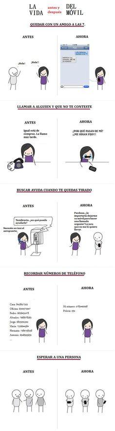 La vida antes y después del móvil
