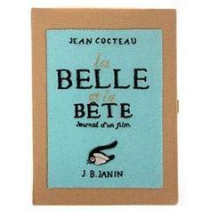Olympia Le Tan La Belle et La Bete Book Clutch