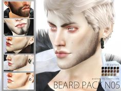 Sims 4 CC's - The Best: Beard Pack by Pralinesims