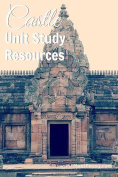 Castle unit study resources. Cute idea to paint a cardboard castle.
