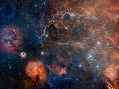 Vela Supernova Remnant in Visible Light