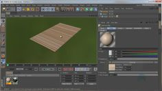 How to create wood material and then how to randomize texture offset for each clone.