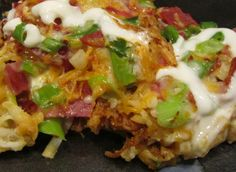 LOADED BUFFALO CHICKEN HASHBROWN CASSEROLE
