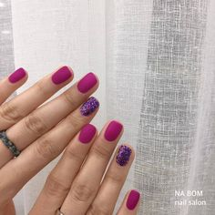 spring nails you must try in 2020 44 Gelish Nails, Nail Manicure, Diy Nails, Fancy Nails, Love Nails, Pretty Nails, Minimalist Nails, Purple Nails, Nails Inspiration