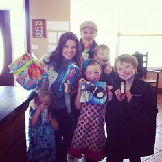 The Duggar Family Johannah had a allergic reaction poison ivy really bad so cousin Amy brought some treats over