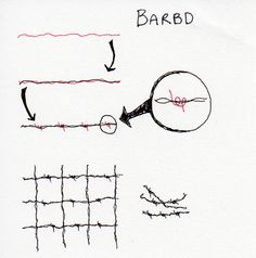 Barbd Tangle Pattern by Tandika, via Flickr