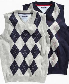 Tommy Hilfigier Kids Sweater, Boys Norfolk Argyle Vest - Kids Boys 8-20 - Macy's