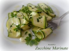 Zucchine Marinate - RicetteDi.it