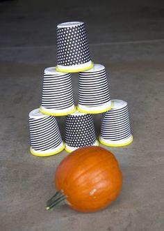 Easy Pumpkin bowling