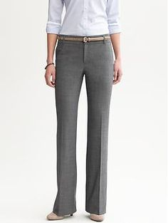 Need another suit can't decide charcoal or black? Martin fit charcoal lightweight wool trouser | Banana Republic