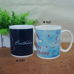 Giftgarden Magic Tea Mugs Heat Sensitive Color Changing C...