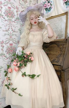 Lost Angel -Afuluoditei- Long Version Lolita OP Dress Romantic Clothing, Romantic Outfit, Lolita Dress, Lost, Victorian, Angel, Clothes, Dresses, Fashion