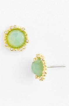 Alexis Bittar 'Elements - Floral' Stud Earrings in Gold/Chalcedony (Nordstrom Exclusive) | Nordstrom
