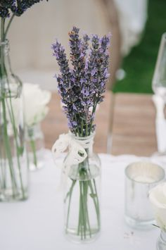 Romantic Elegance at Bel Air Private Estate - baby nursery/shower/other thangz - Wedding Lavender Wedding Centerpieces, Wedding Shower Decorations, Floral Centerpieces, Wedding Lavender, Quinceanera Centerpieces, Lavender Bouquet, Lavander, Candle Centerpieces, Our Wedding