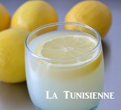 citronnade tunisienne Tunisian Food, Algerian Recipes, Ramadan Recipes, Ramadan Food, Healthy Juices, For Love And Lemons, Lemon Grass, Glass Of Milk, Pudding