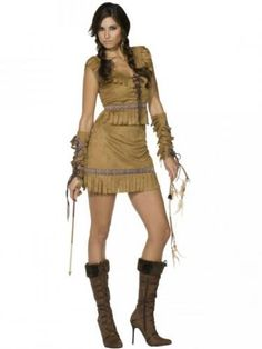 Indian costume.  Disfraz de Pocahontas adulto