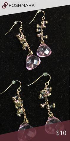 Antique Dangler Earrings Handmade Earrings totally adorable with pastel stones Jewelry Earrings