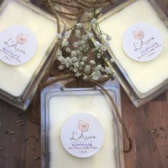 Your favorite blends now available in soy wax melts for your candle warmers!