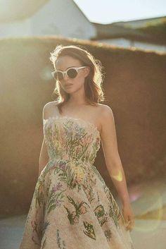Natalie Portman, behind the scenes for new Miss Dior Eau de Parfum, 2017.