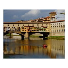 Photo - Poster - Wall Art. This can be purchased from my Zazzle store. http://www.zazzle.com/italy_florence_tuscany_bridge_print-228050146298260279?rf=238562255553280981    $15.35