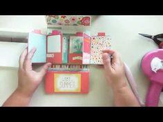 4x6 mini album tutorial - YouTube