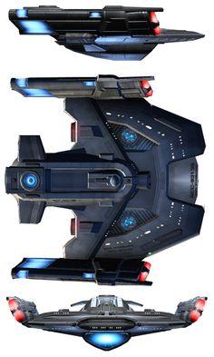 STAR TREK - RAPIER_class_escort_destroyer. (Alternate Rendition)