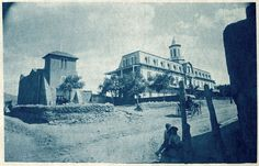 #VintageSantaFe Charles Lummis (1859 - 1928) San Miguel Chapel Cyanotype Palace of the Governors/Photo Archives #15229