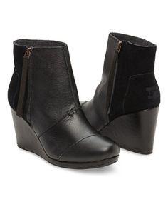 Love this Black Desert High Leather Wedge on #zulily! #zulilyfinds