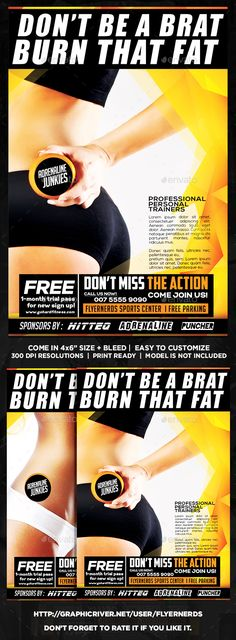 Fitness Center Sports Flyer Flyers, Fitness and Fitness centers - free sports flyer templates