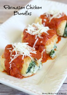 Parmesan Chicken Bundles - Butter With a Side of Bread