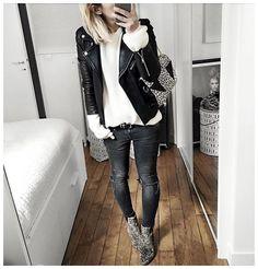 Tenue du jour : • Jacket #samsoe (from @samsoesamsoe) • Angora Knit #roseanna (from @eranovaorleans) • Belt #thekooples (from @labrandboutique) • Jean #aninebing (on @cyrielleforkure) • Boots #isabelmarant (old) ...