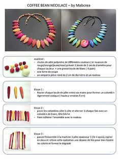 Coffee bean necklace tutorial by Mabcrea