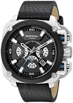 Diesel Men's DZ7345 Stainless Steel Watch with Black Leather Band Diesel http://www.amazon.com/dp/B00UAIVXA8/ref=cm_sw_r_pi_dp_qhfEwb1F4EYXN