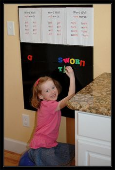 word wall...daily 5 word work station