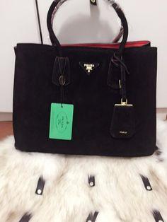 ec58fb1c4 Lançamento Bolsa de Grife Importada Prada Double Bag Preta - Linha TOP  PREMIUM…