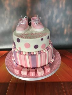 Christening Cake, baby girl.