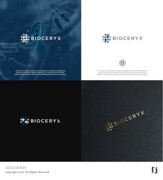 BioCeryx - Create a logo for a DNA diagnostics company Our mission is to make complex molecular diagnostics accessible and affordable by pushing the boundaries of genomic m. Modern Business Cards, Business Card Logo, Business Card Design, It Services Company, Company Logo, Create Logo, Enterprise System, Internet Logo