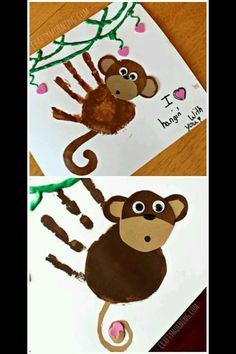 Monkey handprint
