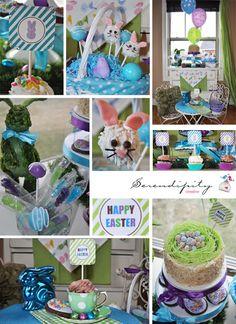 Easter Dessert Table + Cute Bunny Cakepops