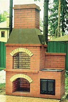 Печь-кухня своими руками (чертеж, порядовки, фото) Bird House Plans Free, Storage Shed Plans, Wood Fireplace, Smokehouse, Pergola Plans, Backyard Landscaping, Landscape Design, Gazebo, Bbq