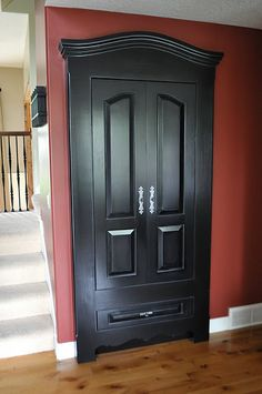 make a closet door look like an armoire - very cool idea.