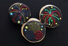 Firework cupcake 2 by Victorious Cupcakes, via Flickr