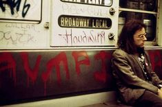 New York City subway, 1973.  My first subway trip was in 1978 (on the South Ferry Broadway Local, matter of fact).  When I stepped in the car I felt as if I'd walked into a psychedelic dream.