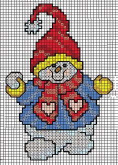 free cross stitch chart snowman