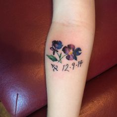 violet flower tattoo - Google Search