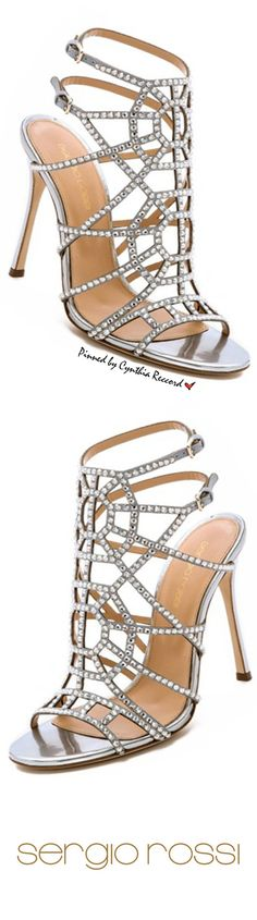 Sergio Rossi Crystal Sandals Crystal Puzzle Heels | Cynthia Reccord | The House of Beccaria#