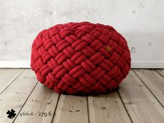40 off  KNOTTY floor cushion 80x80x40 cm  deep red by kumekodesign, €279.60
